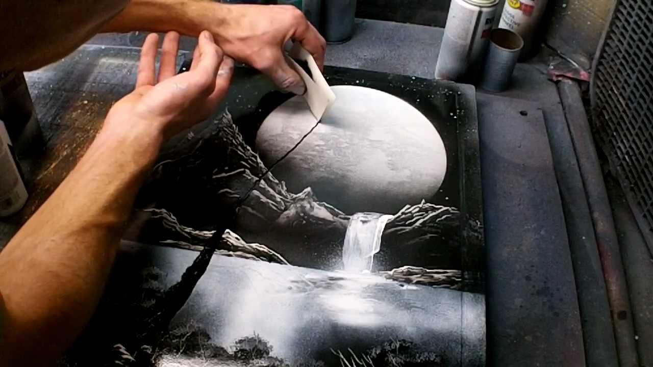 Tutorial black and white nature spacepainting youtube voltagebd Images