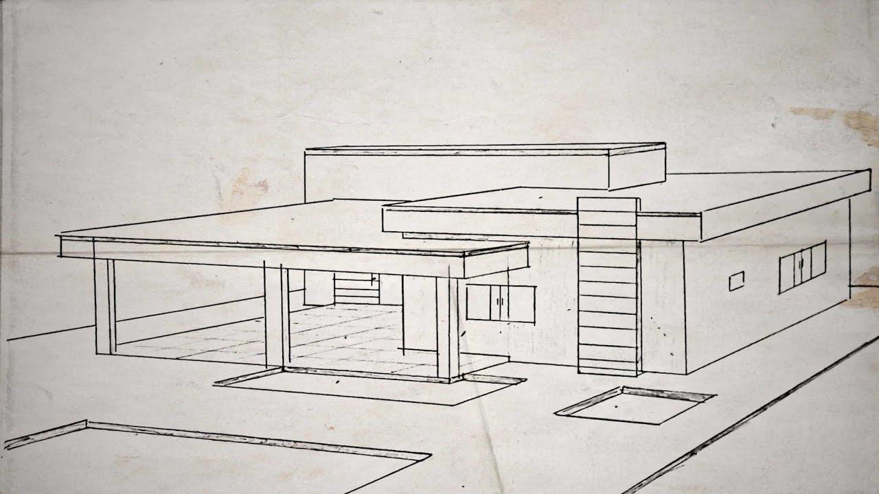Como desenhar uma casa moderna facil r pido e pr tico for Casa moderna 64