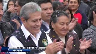 ALCALDE DE HUALMAY  EDDIE JARA INAUGURÓ OBRAS DE ASFALTADO EN EL PEDREGAL