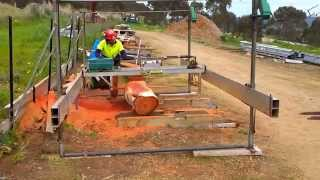 The Big Drop - Part 2. Milling Red gum with the Lucas Mill