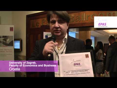 University of Zagreb, Faculty of Economics and Business awarded EPAS accreditation from EFMD