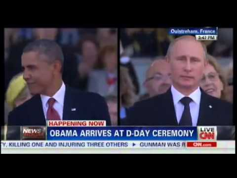 Obama vs Poutine Putin D Day commemoration - 6 june