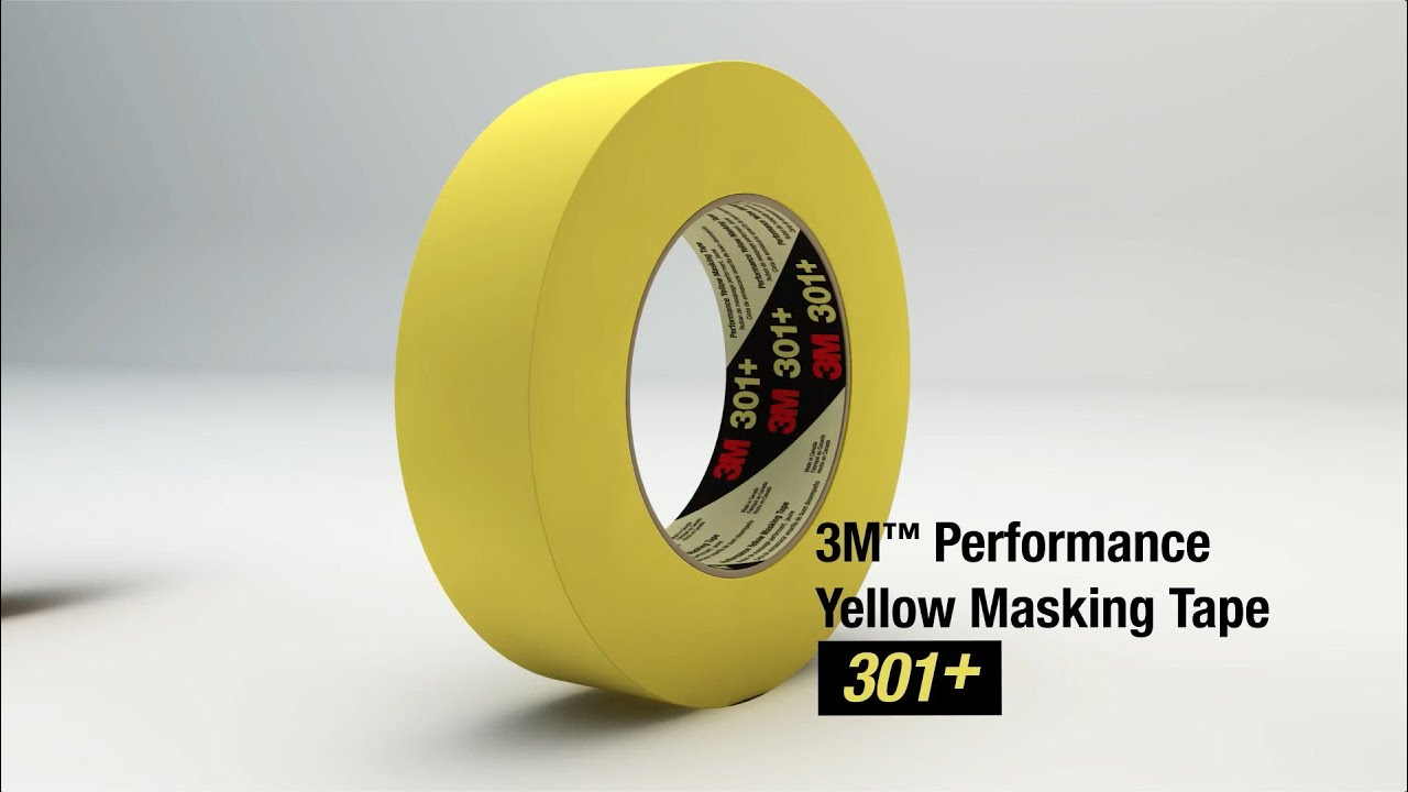 3M Performance Yellow Masking Tape 301