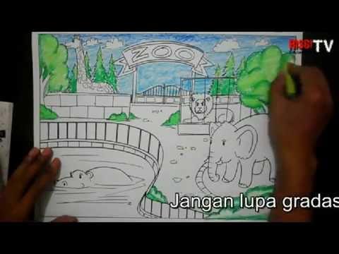Menggambar Kebun Binatang Risbi Youtube