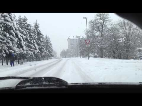 Streets in Maribor (Slovenia) at winter