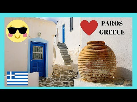 GREECE: Beautiful whitewashed houses, island of PAROS - VILLAGE OF LEFKES