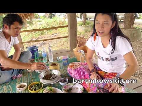 Eating Thai Food in Isan, Thailand