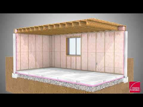 Video clip hay foundation insulation effectiveness for Foundation blanket wrap insulation