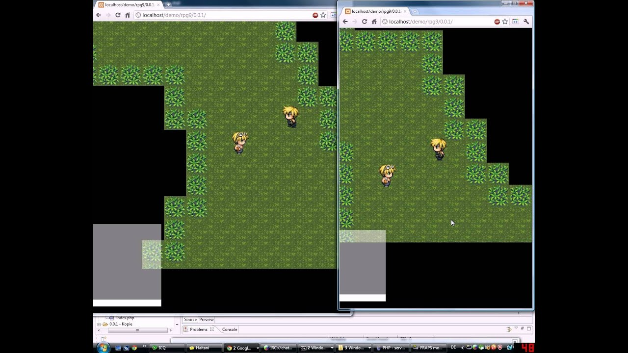 Realtime Online-Browser-RPG in HTML5 canvas with node js