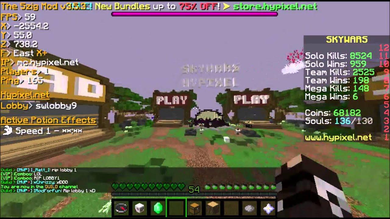 Hypixel Admin rekts Skywars lobby 1