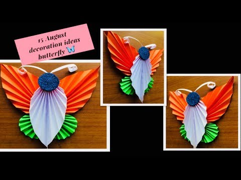 Bulletin board ideas for Independence Day tagged videos   Midnight News Independence Day special origami school bulliten board decoration for teachers  day