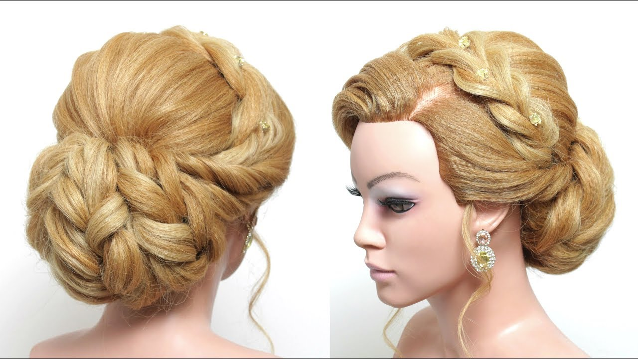 Beautiful Bridal Hairstyle For Long Hair: Beautiful Bridal Bun Hairstyle For Long Medium Hair