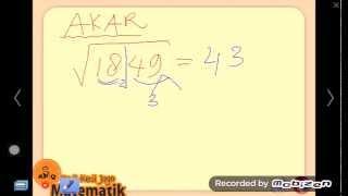 Cara Belajar Matematika 01 Menghitung Akar Kuadrat