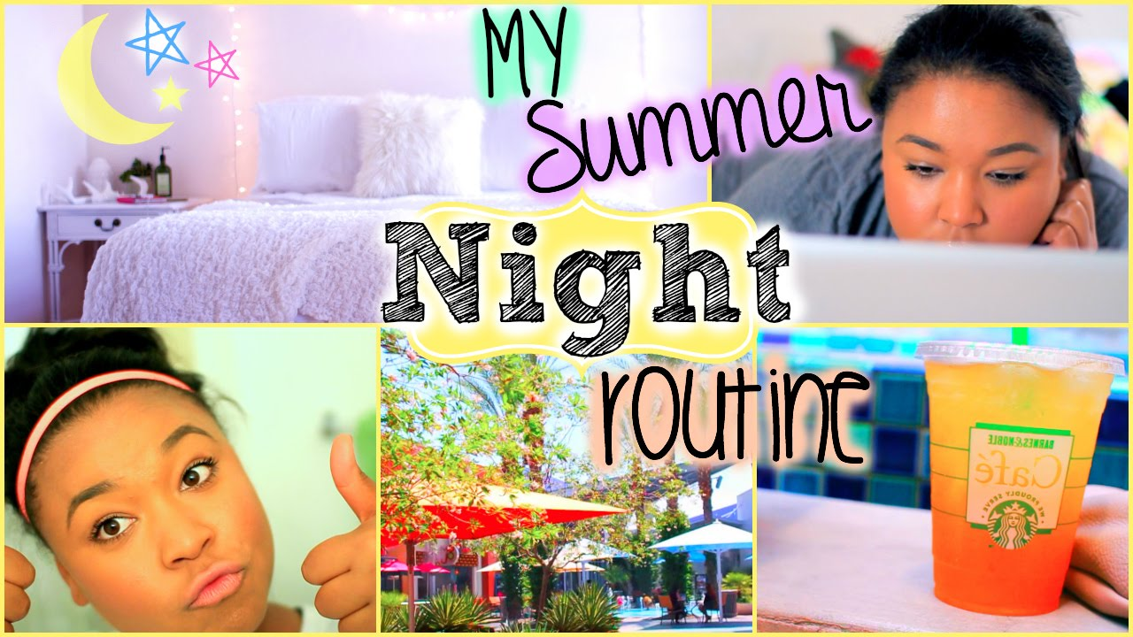 Summer Night Routine 2014| Tanamontana100 - YouTube