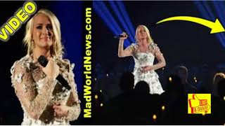 Carrie Underwood Breaks Down In Tears At CMAs, Then Viewers Notice What's Right Behind Her