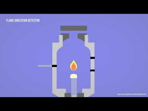 GC - Gas Chromatography - FID - Flame Ionization Detector Animation