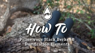 How to prime Black Berkey® Purification Elements