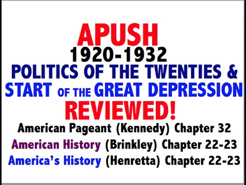 American Pageant Chapter 32 APUSH Review