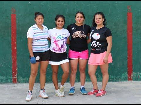 FRONTÓN FEMENIL - EXHIBICIÓN/ Angie Contreras & Sofí Yáñez VS Paola Reyes & Ruth Guijosa/ Dptvo. SME