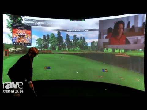CEDIA 2014: aboutGolf Showcases the aG Curve Panoramic Simulator