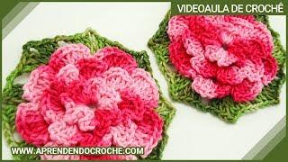 Flor de Croche Rasteirinha - Aprendendo ...