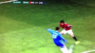 Man United Vs Chelsea Fc (2-1) | Hazard's Goal 10/03/13