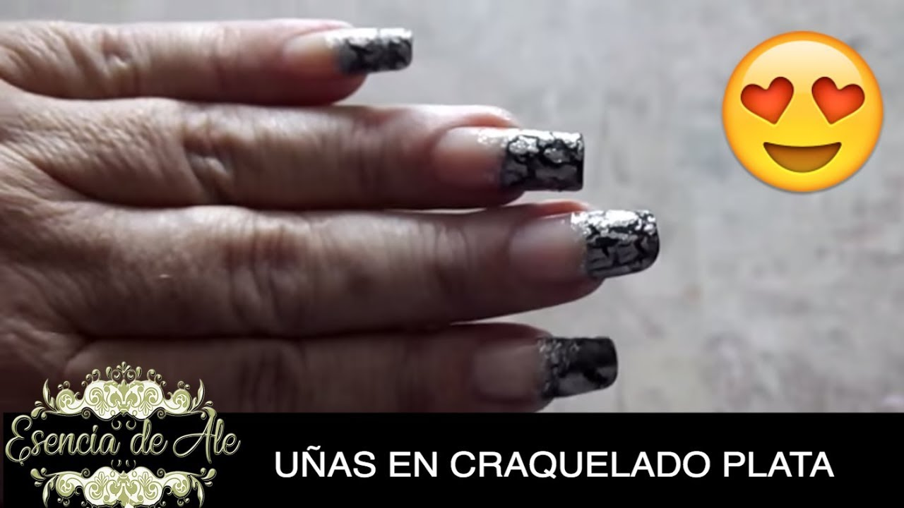 DECORACION DE UÑAS FACIL CON ESMALTE CRAQUELADO - YouTube
