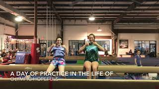 a day of practice in the life of OLYMPIC HOPEFULS