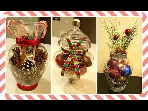 DIY Centros de mesa navideños
