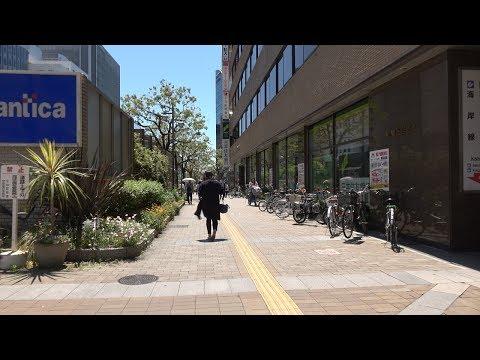 神戸三宮駅前から新港第一突堤まで4K動画で歩き撮り