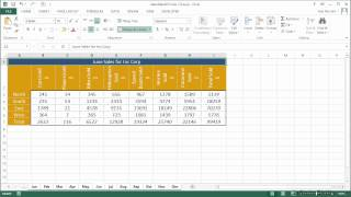 Microsoft Excel - Shortcut Guide Tutorial | Multiple Sheet Data Entry And Sheet Management