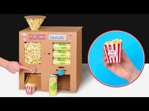Cardboard DIY Plus Popcorn Plus Soda Plus Movies Equals Home Cinema