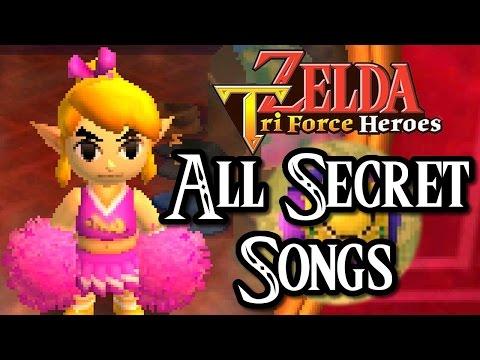 Zelda Triforce Heroes ALL SECRET MUSIC BALL SONGS (3DS)