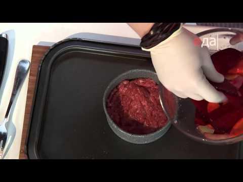 Овощной гратен с говядиной