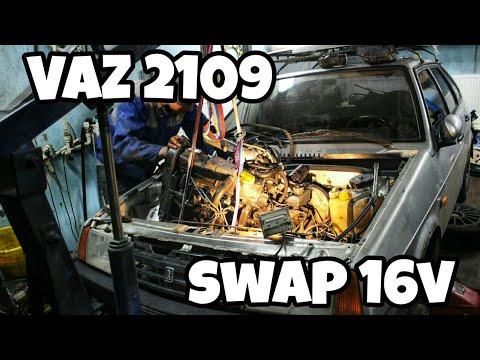 Свап 16v мотора ВАЗ 2109