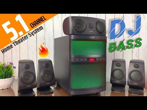 F&D F5060X 51 Home Theater System Unboxing & Review in Hindi  Best 51 Speakers