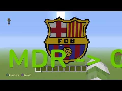 VLZ | FC BARÇELONA | Minecraft Pixel Art thumbnail