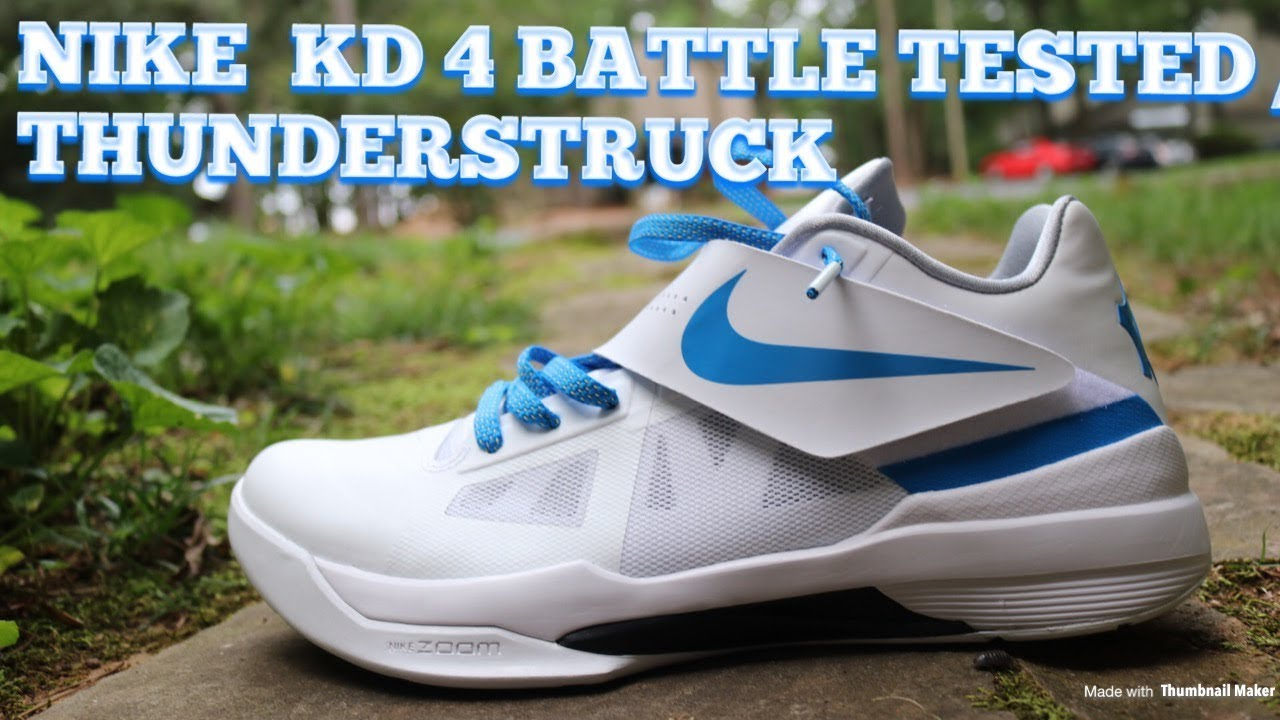 77915c159395 Nike KD 4 Battle Tested   Thunderstruck Review   On Feet - YouTube