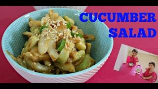 Fresh Cucumber Salad Recipe with Hanna and Mia