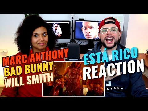 Marc Anthony, Will Smith, Bad Bunny - Está Rico | REACTION