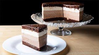 Торт «Три шоколада» вкус шоколадного мороженого -  очень вкусный