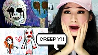 REACTING TO CREEPIEST CHILDREN'S DRAWINGS!!