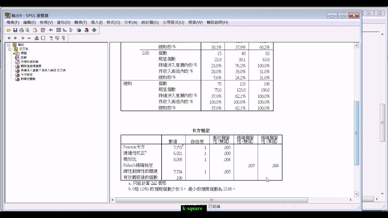spss-卡方檢定 by Roy Tsay - YouTube