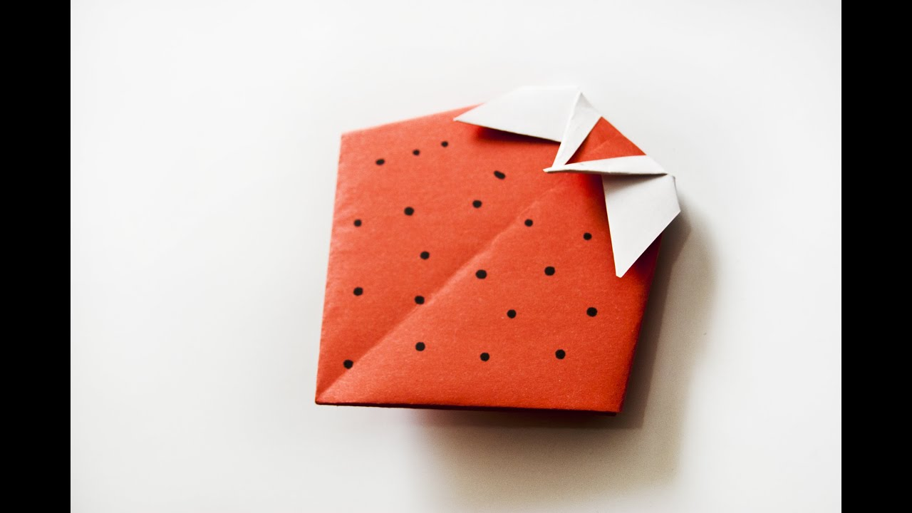 how to make a paper strawberry origami fruits easy