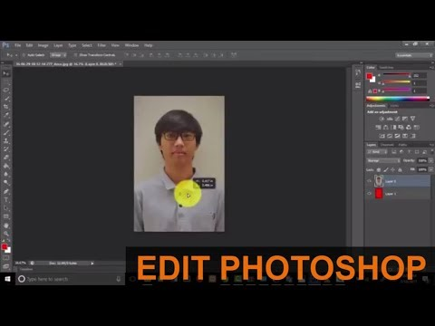 Cara Edit Foto Background Merah Cepat di Photoshop - YouTube