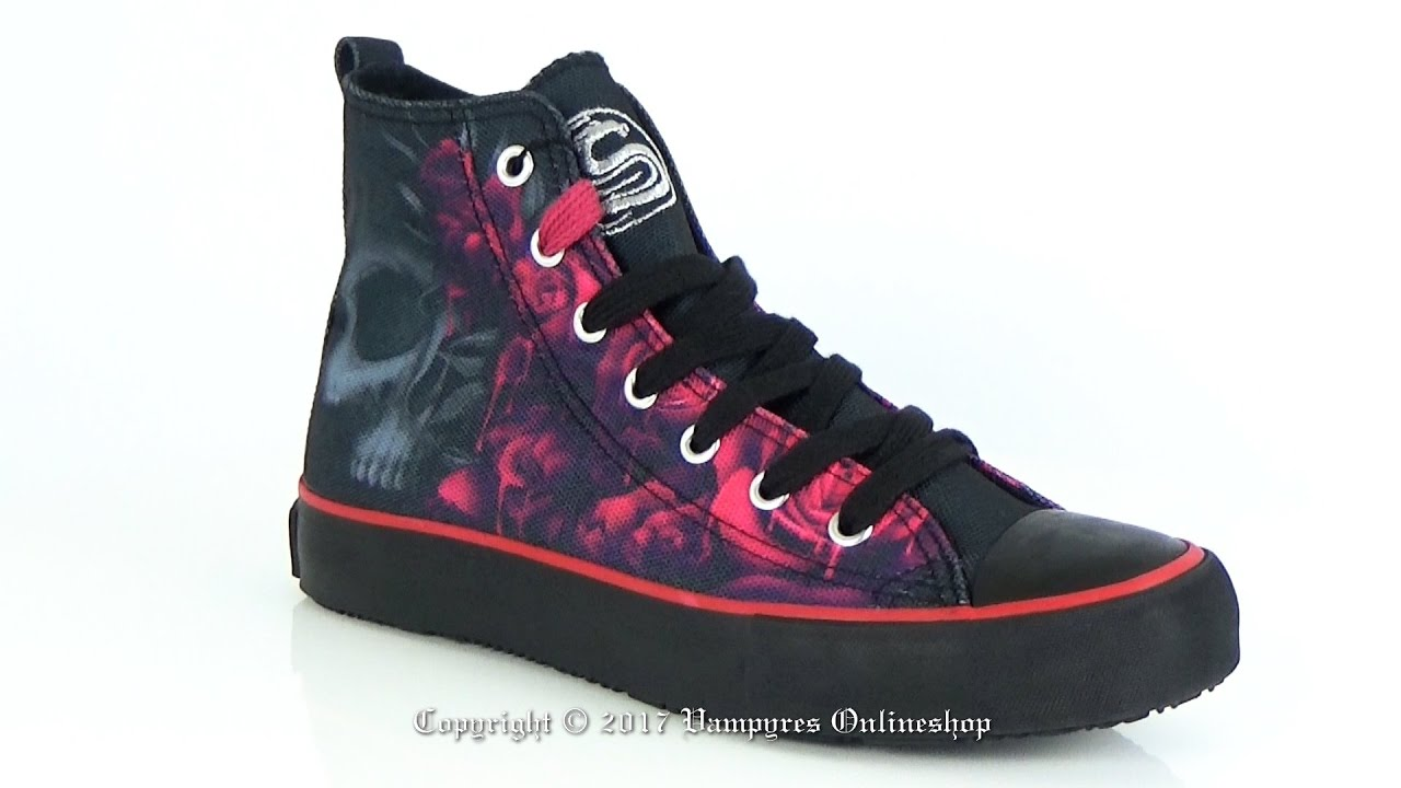 Spiral High Top Sneakers Blood Rose