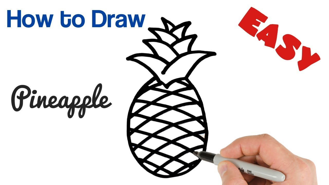 How to Draw a Pineapple Super Easy for beginners - YouTube