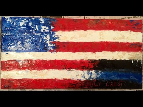 How to paint an American Flag with Heavy Gel Medium and Acrylic Paint