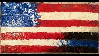 How to paint an American Flag with Heavy Gel Medium and Acrylic Paint(, 2016-02-27T16:43:35.000Z)