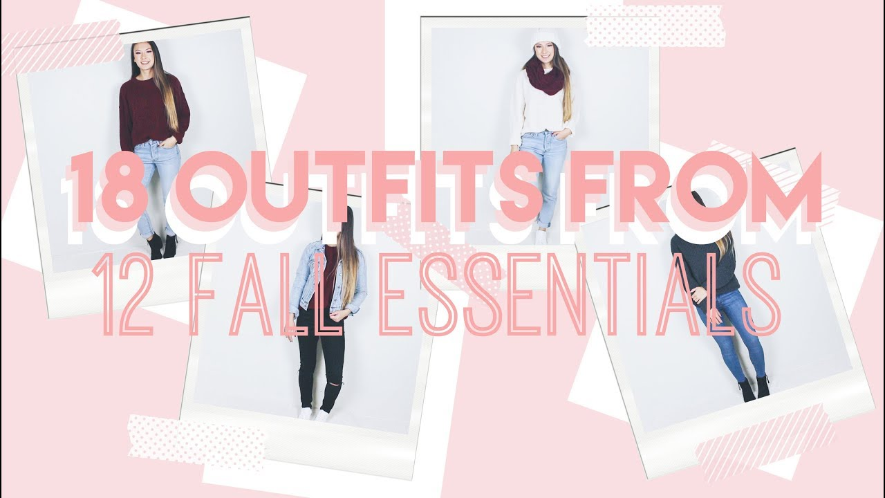 18 Casual Fall Outfits from ONLY 12 Clothes! // STARBUCKS GIVEAWAY ♡ 5